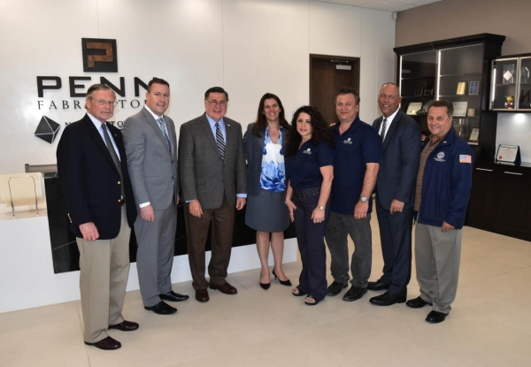 Supervisor Romaine, Councilman Loguercio and Brookhaven IDA Officials Welcome Penn Fabricators to their New Manufacturing Facility in Medford